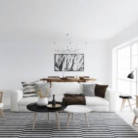 скандинавский стиль в гостиной идеи интерьер