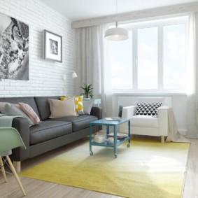 скандинавский стиль в гостиной идеи оформление