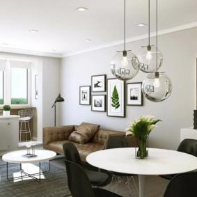 скандинавский стиль в гостиной идеи оформления
