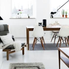 скандинавский стиль в гостиной идеи вариантов