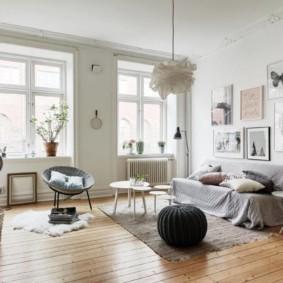 скандинавский стиль в гостиной идеи видов