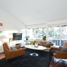 скандинавский стиль в гостиной интерьер идеи