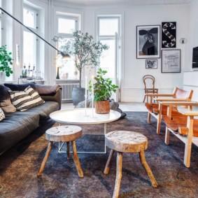 скандинавский стиль в гостиной оформление