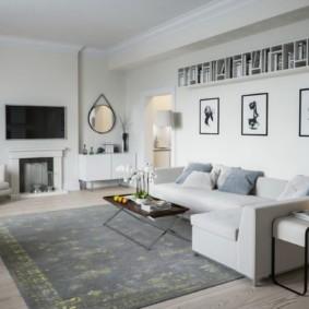 скандинавский стиль в гостиной оформление фото