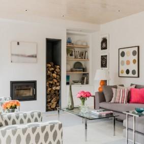 скандинавский стиль в гостиной оформление идеи
