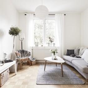 скандинавский стиль в гостиной варианты