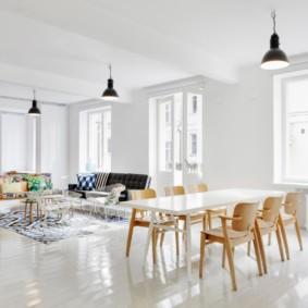 скандинавский стиль в гостиной варианты идеи