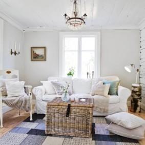 скандинавский стиль в гостиной виды идеи