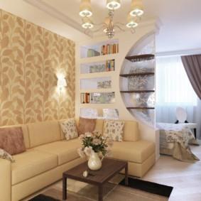 совмещение гостиной и детской декор идеи