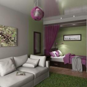 совмещение гостиной и детской дизайн фото