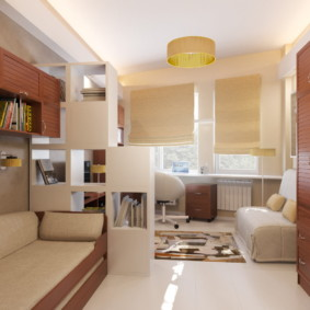 совмещение гостиной и детской фото дизайн