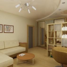 совмещение гостиной и детской фото дизайна