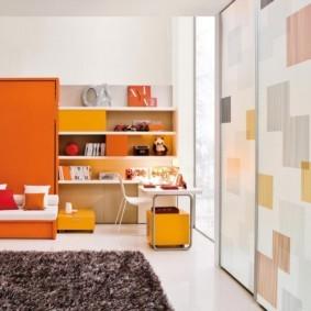 совмещение гостиной и детской идеи декор