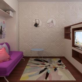 совмещение гостиной и детской идеи дизайн