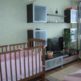 совмещение гостиной и детской идеи вариантов