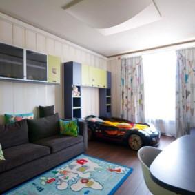 совмещение гостиной и детской идеи варианты