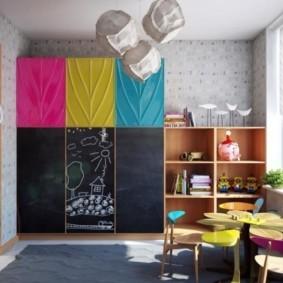 совмещение гостиной и детской интерьер идеи