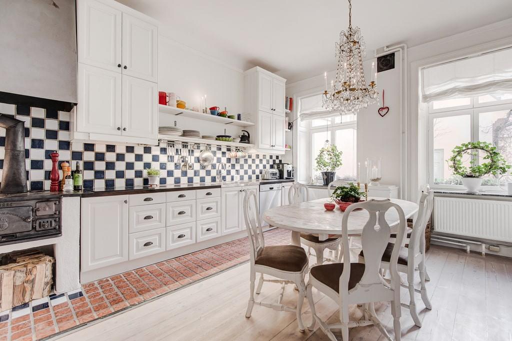 совмещение плитки и ламината на кухне идеи дизайн