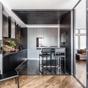 совмещение плитки и ламината на кухне идеи интерьер