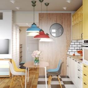 совмещение плитки и ламината на кухне идеи оформления