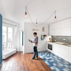 совмещение плитки и ламината на кухне идеи видов