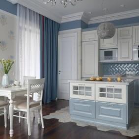 совмещение плитки и ламината на кухне оформление идеи