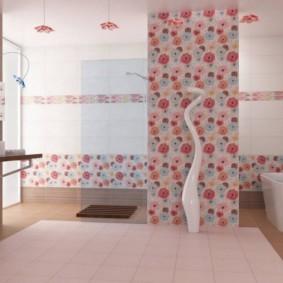 плитка для ванной комнаты фото декора