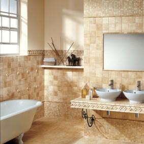 плитка для ванной комнаты фото интерьера