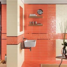 плитка для ванной комнаты интерьер фото