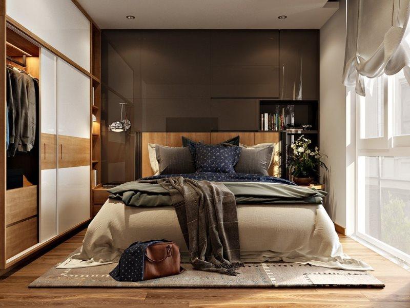 Дизайн спальни 3 на 3 м в современном стиле
