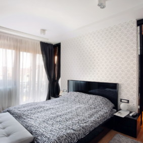 современный дизайн спальни 12 кв м