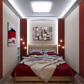 спальня 8 кв м дизайн фото