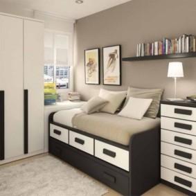 спальня 8 кв м виды декора