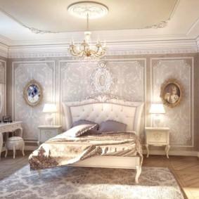 спальня в бежевых тонах декор