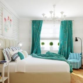 спальня в бирюзовых тонах дизайн фото