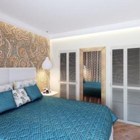 спальня в бирюзовых тонах дизайн идеи