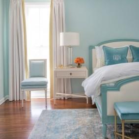 спальня в бирюзовых тонах фото дизайн