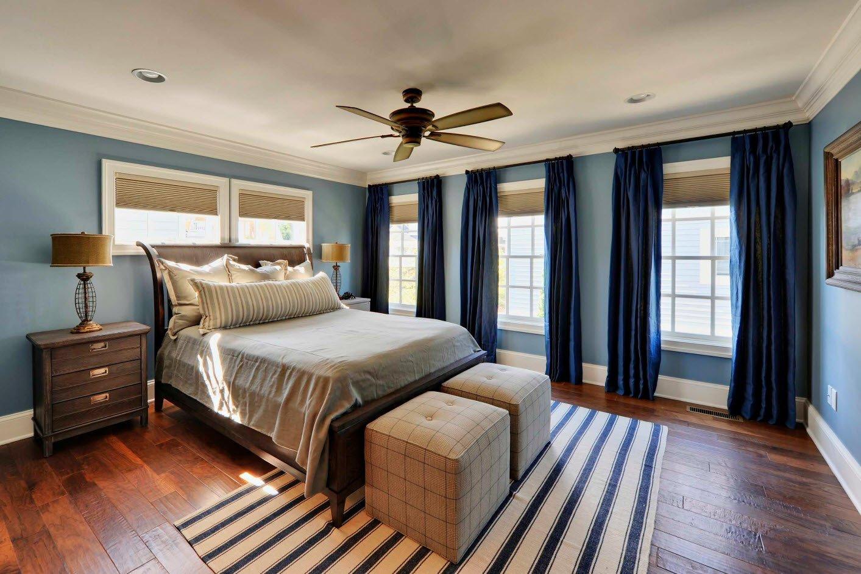 спальня в голубом цвете дизайн идеи