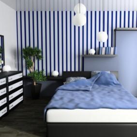 спальня в голубом цвете фото видов