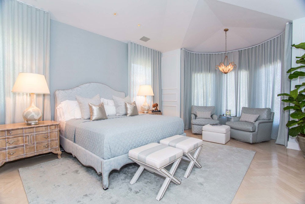 спальня в голубом цвете фото виды