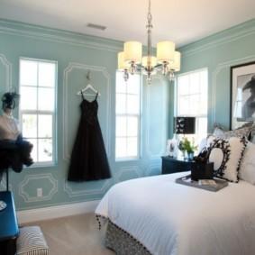 спальня в голубом цвете идеи декор
