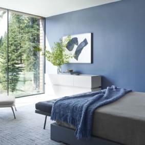 спальня в голубом цвете идеи декора