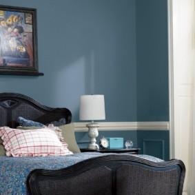 спальня в голубом цвете идеи дизайна