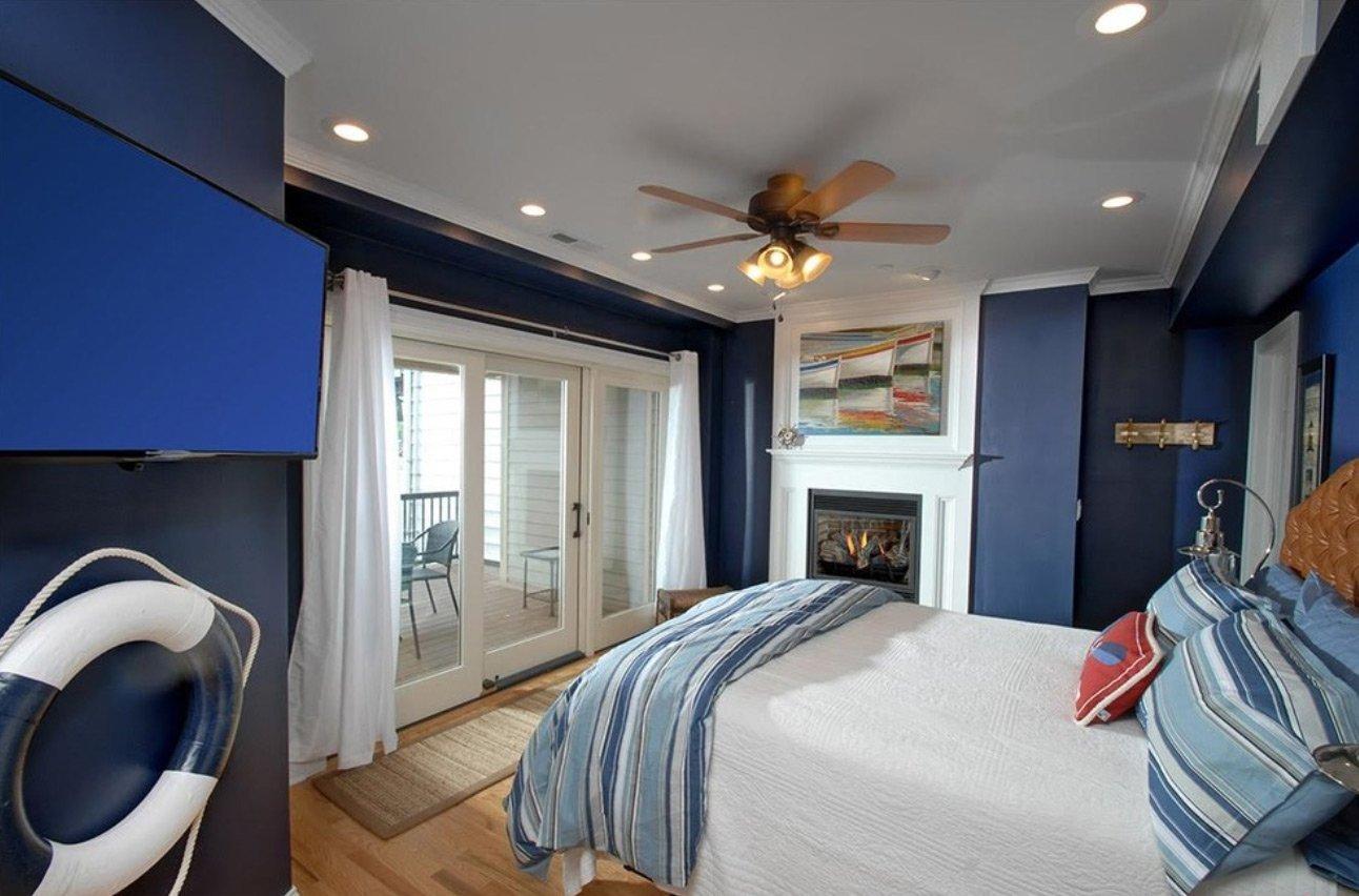 спальня в голубом цвете идеи интерьера