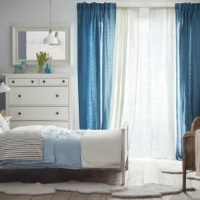 спальня в голубом цвете идеи оформление