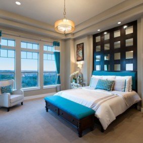 спальня в голубом цвете идеи оформления