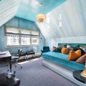 спальня в голубом цвете идеи вариантов