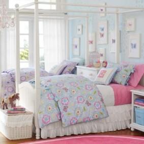 спальня в голубом цвете идеи варианты