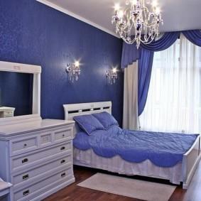 спальня в голубом цвете идеи виды