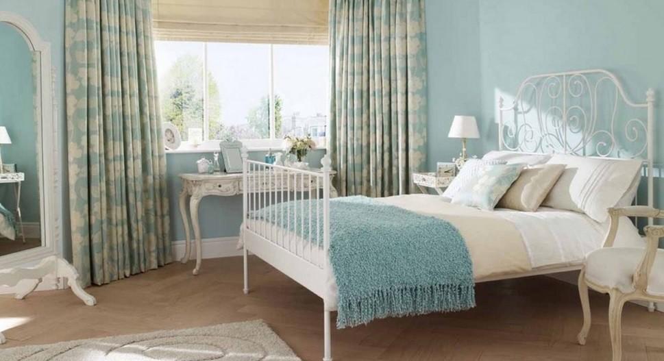 спальня в голубом цвете варианты фото